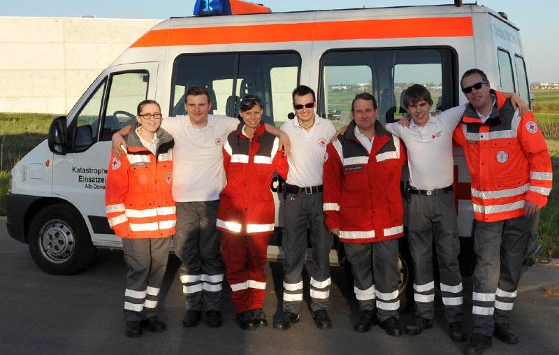 Kommandowagen der 4. EE mit Team - Bild: Thomas Heckmann